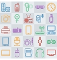 gadgets line icon set vector image