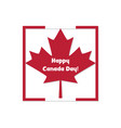 happy canada day card vector image