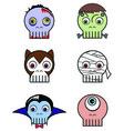 Monster skulls vector image