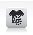 tshirt sale icon vector image