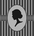 woman portrait silhouette vector image