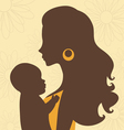 Beautiful mom holding baby vector image vector image