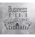 Business Lunch coal vector image vector image