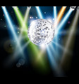 disco mirror ball background vector image