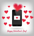 smartphone with love message vector image