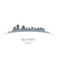 Quebec Canada city skyline silhouette vector image vector image