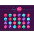 Party flat icons set vector image vector image