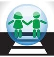 Children safety on the road vector image