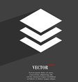 Layers icon symbol Flat modern web design with vector image