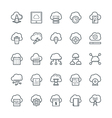 Cloud Computing Cool Icons 2 vector image