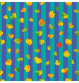 Heart autumn seamless pattern vector image
