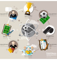 Football Tournament And Sport Flat Icon vector image