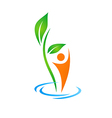 abstract health people nature logo vector image