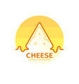 Cheese emblem company vector image
