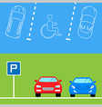 Parking banners in flat style vector image