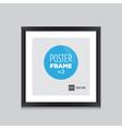 Poster frame black square vector image