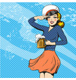sailor woman retro pop art vector image