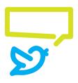 Bird tweets icon vector image