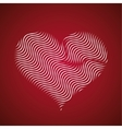 Abstract heart icon wave lines vector image vector image