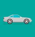 flat car eps 10 vector image