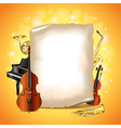 paper musical instruments vector image vector image
