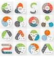Business circle infographic diagram with options vector image vector image