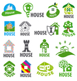 biggest collection of logos homes vector image