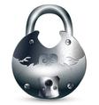 vintage metal padlock vector image