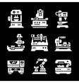 Set icons of machine tool vector image