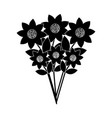 beautiful bunch flower nature ornament decoration vector image