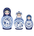 Blue Matryoshka Doll vector image