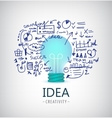 brainstorm idea business vector image