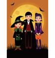 Children in costume Halloween vector image