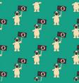 dog on demonstration seamless pattern vector image
