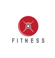 fitness weight disc of barbell design template vector image