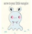 Little vampire in baby style vector image