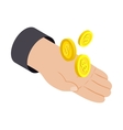 Money in hand 3d isometric icon vector image