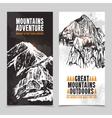 Mountain tourism 2 vertical banners vector image