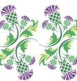 ornament with flowers of thistle vector image