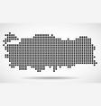 pixel map of turkey vector image