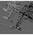 Power Transmission Line vector image