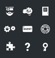 set of quest room icons vector image