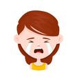 woman young girl crying flat vector image