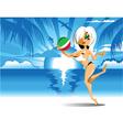 fabulous beach vector image