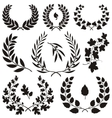 wreath icons vector image