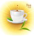 realistic tea cup vector image vector image