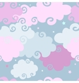 Pink Clouds seamless background vector image