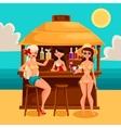 Summer vacation a beach bar by the sea vector image