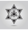 abstract geometrical triangle tile hexagram icon vector image