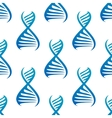 Blue DNA seamless pattern vector image